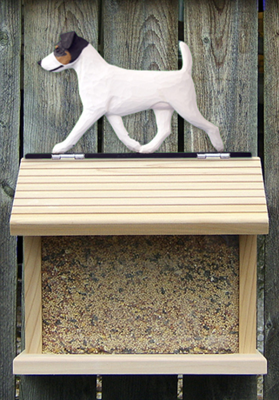 Jack Russell Terrier Hand Painted Dog Bird Feeder Tri