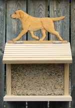 Yellow Labrador Hand Painted Dog Bird Feeder