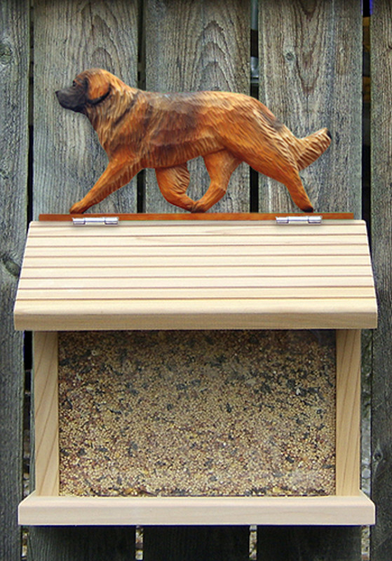 Leonberger Hand Painted Dog Bird Feeder