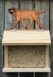Mastiff Hand Painted Dog Bird Feeder Apricot Brindle