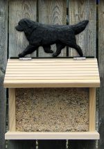 Newfoundland Hand Painted Dog Bird Feeder Black