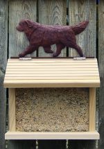 Newfoundland Hand Painted Dog Bird Feeder Brown