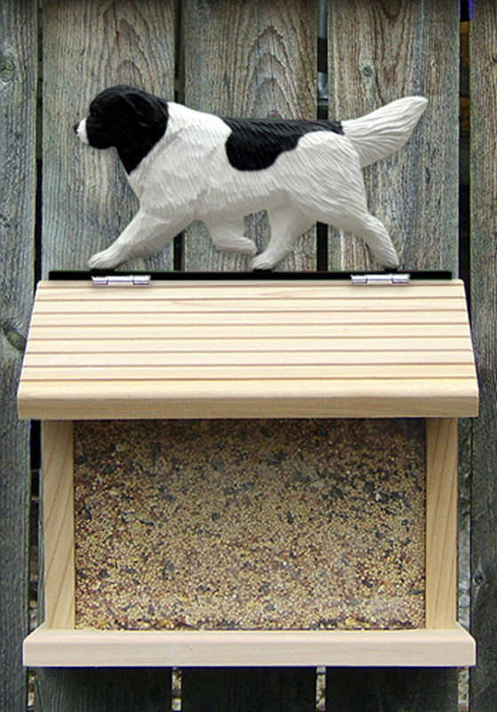 Newfoundland Hand Painted Dog Bird Feeder Landseer