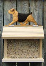 Norfolk Terrier Hand Painted Dog Bird Feeder Black/Tan
