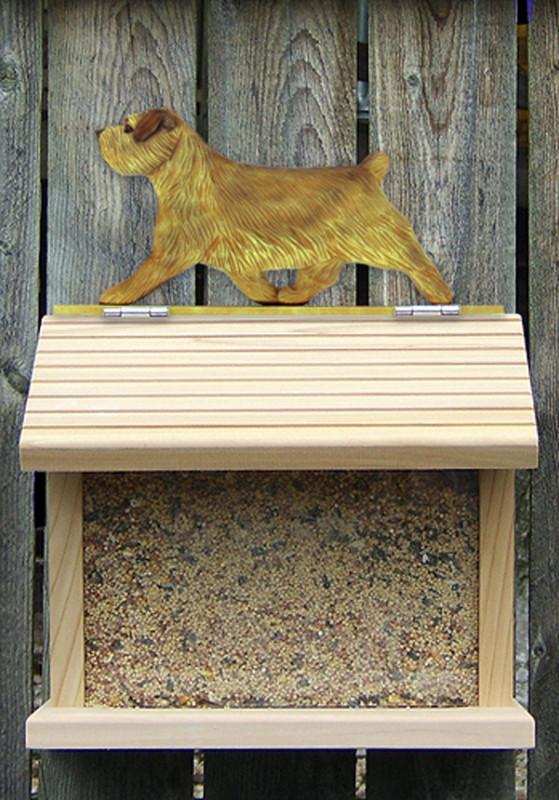 Norfolk Terrier Hand Painted Dog Bird Feeder Grizzle