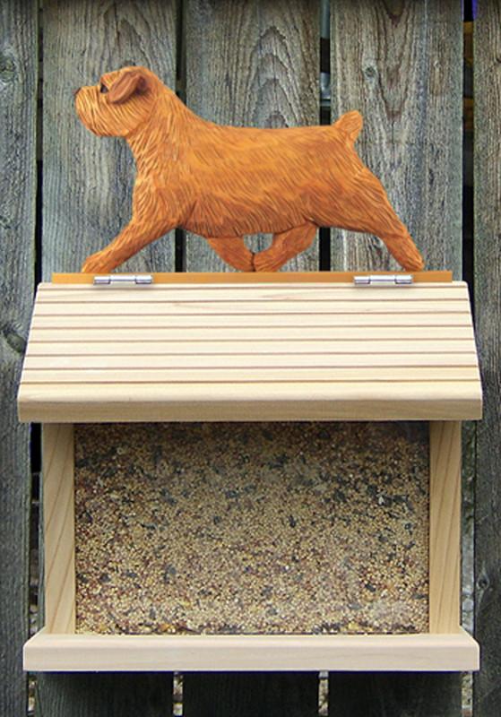 Norfolk Terrier Hand Painted Dog Bird Feeder Red
