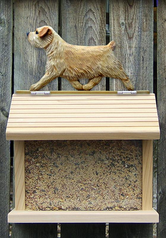 Norfolk Terrier Hand Painted Dog Bird Feeder Wheaten