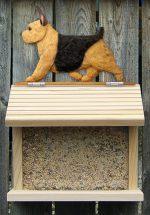 Norwich Terrier Hand Painted Dog Bird Feeder Black/Tan