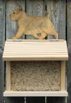 Norwich Terrier Hand Painted Dog Bird Feeder Grizzle