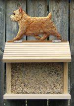 Norwich Terrier Hand Painted Dog Bird Feeder Wheaten