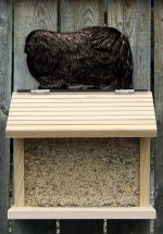 Pekingese Hand Painted Dog Bird Feeder Black