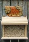 Pekingese Hand Painted Dog Bird Feeder Red