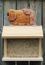 Pekingese Hand Painted Dog Bird Feeder Sable