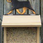 Rottweiler Hand Painted Dog Bird Feeder 1