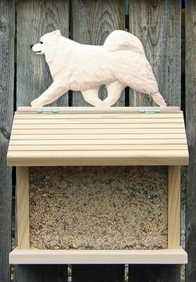 Samoyed Dog Bird Feeder