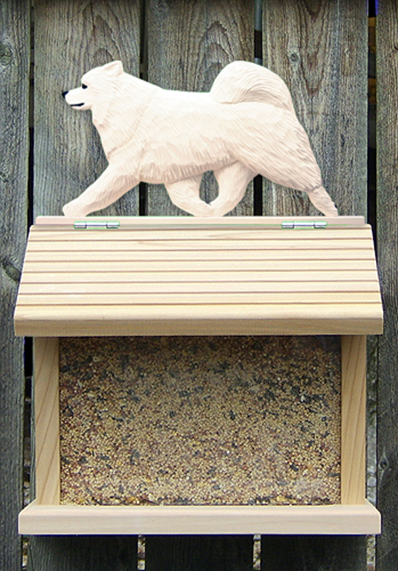 Samoyed Dog Bird Feeder