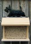 Scottish Terrier Hand Painted Dog Bird Feeder Brindle