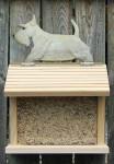Scottish Terrier Hand Painted Dog Bird Feeder Wheaten