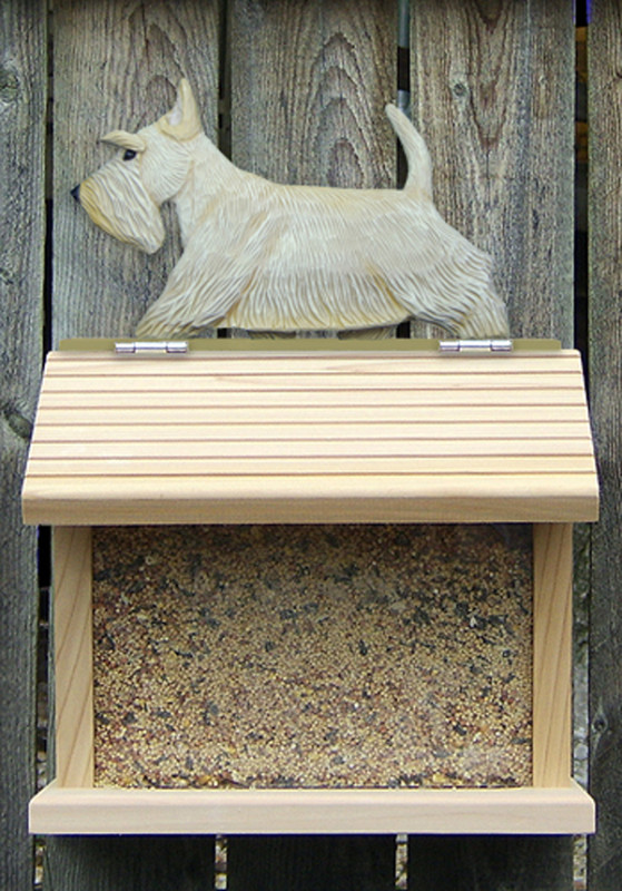 Scottish Terrier Hand Painted Dog Bird Feeder Wheaten