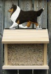 Shetland Sheepdog Hand Painted Dog Bird Feeder Tri