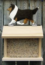 Shetland Sheepdog Hand Painted Dog Bird Feeder Tri