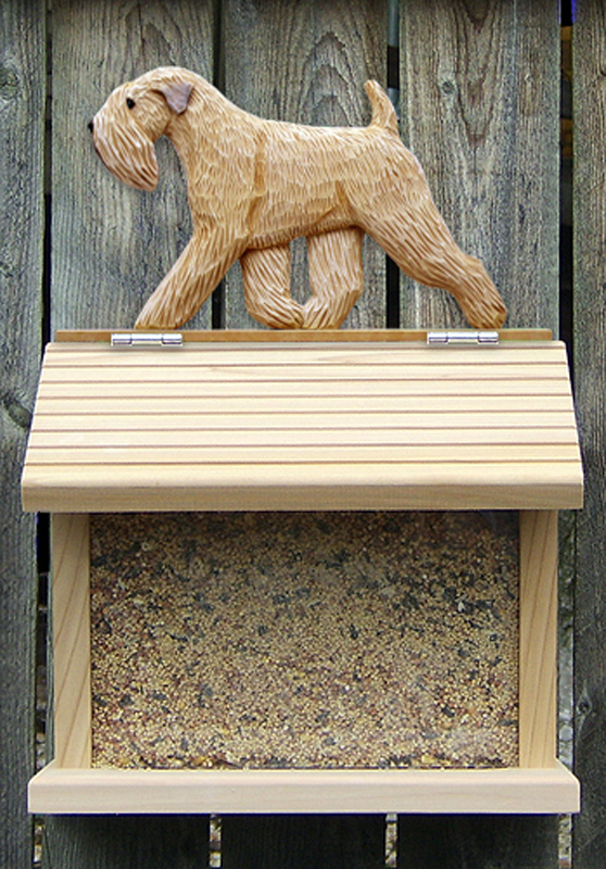 Soft Coated Wheaten Dog Bird Feeder
