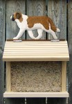 Saint Bernard Hand Painted Dog Bird Feeder