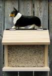 Welsh Corgi Pembroke Hand Painted Dog Bird Feeder Tri
