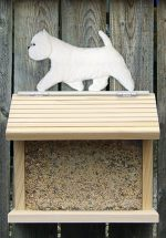 Westie Hand Painted Dog Bird Feeder