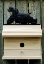American Cocker Spaniel Hand Painted Dog Bird House Black