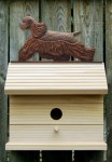 American Cocker Spaniel Hand Painted Dog Bird House Brown