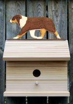 Australian Shepherd Hand Painted Dog Bird House Red Tri