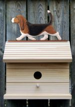 Basset Hound Hand Painted Dog Bird House Tri