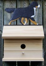 Bernese Mountain Dog Hand Painted Dog Bird House