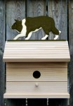 Border Collie Hand Painted Dog Bird House Black