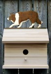 Border Collie Hand Painted Dog Bird House Red
