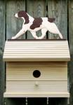 Brittany Liver Dog Bird House