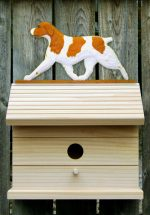 Brittany Orange Dog Bird House