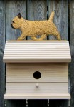 Cairn Terrier Hand Painted Dog Bird House Wheaten