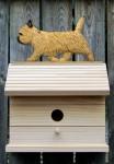 Cairn Terrier Hand Painted Dog Bird House Wheaten