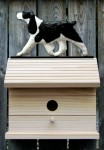 English Springer Spaniel Hand Painted Dog Bird House Black