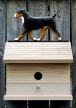 Entlebucher Hand Painted Dog Bird House