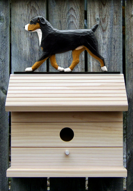 Entlebucher Hand Painted Dog Bird House