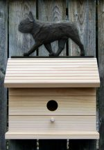 French Bulldog Hand Painted Dog Bird House Black/Brindle