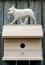 French Bulldog Hand Painted Dog Bird House Cream