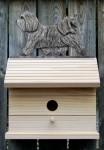 Havanese Hand Painted Dog Bird House Light Gray