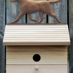 Chocolate Labrador Retriever Hand Painted Dog Bird House 1