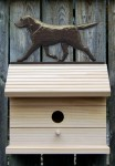 Black Labrador Retriever Hand Painted Dog Bird House