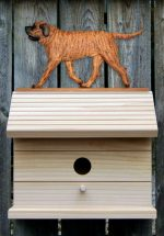 Mastiff Hand Painted Dog Bird House Apricot Brindle