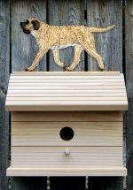 Mastiff Hand Painted Dog Bird House Fawn Brindle